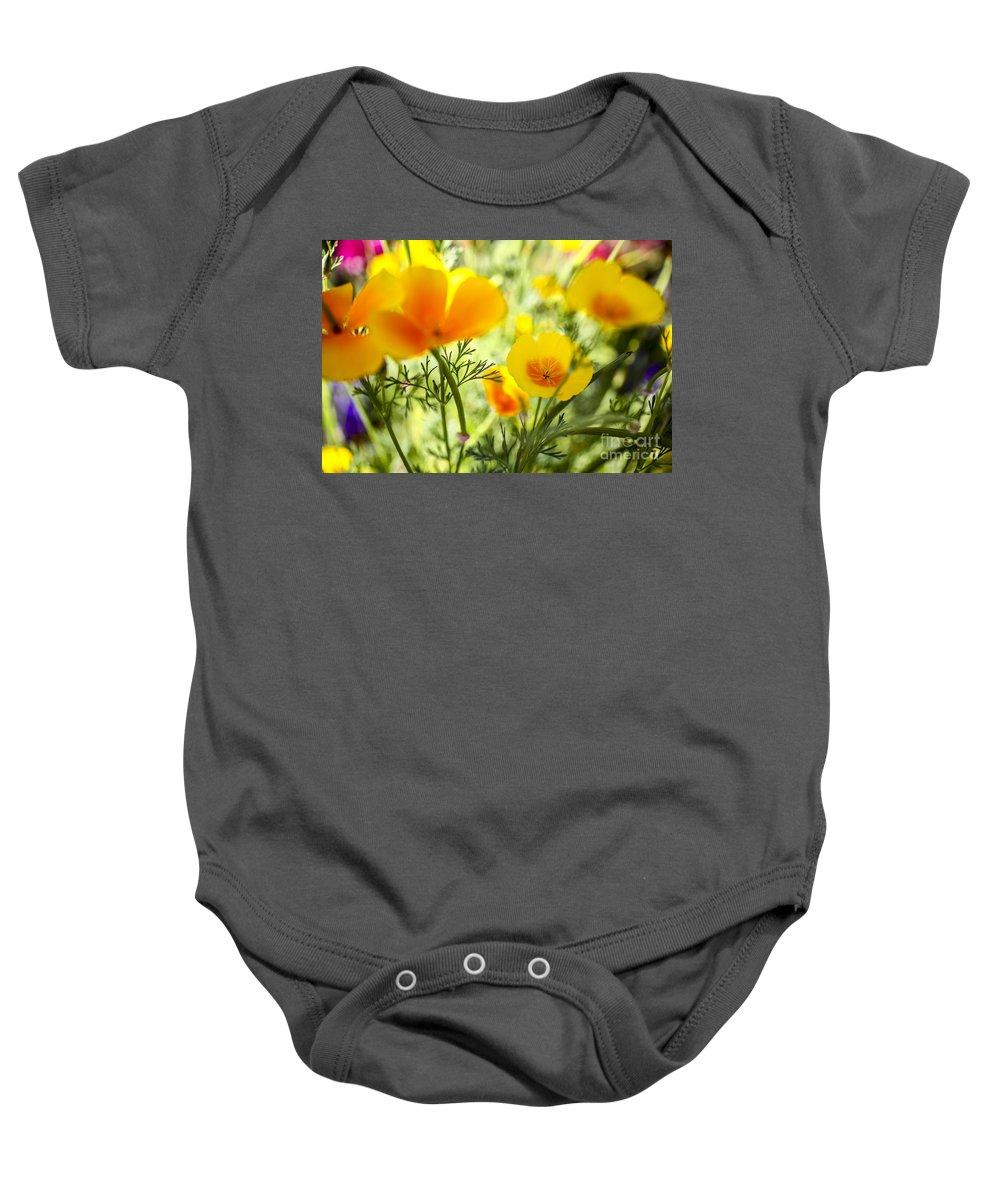 Yellow Baby Onesie featuring the photograph Flowering Garden by Gal Eitan