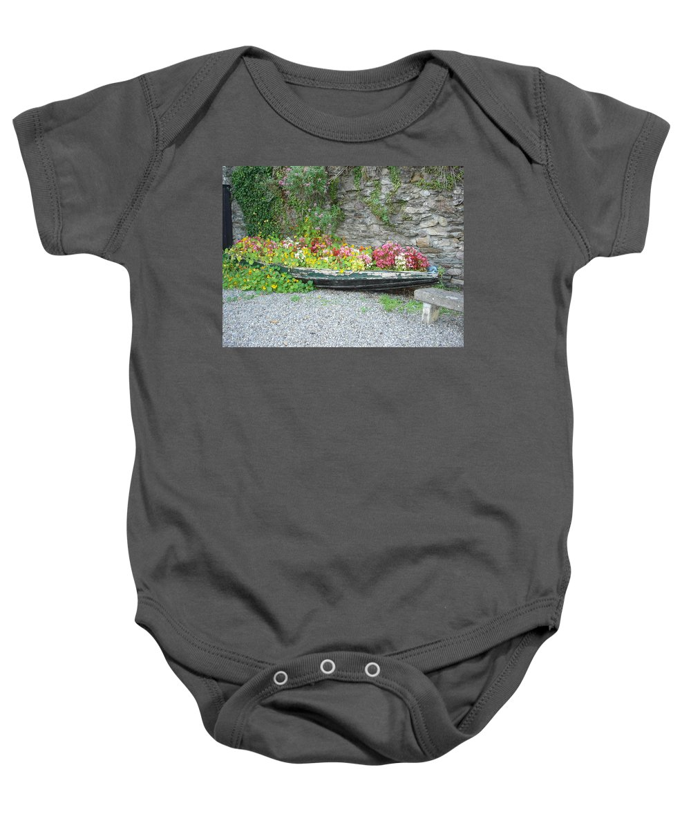 Inistioge Baby Onesie featuring the photograph Flowers Floating by Kelly Mezzapelle