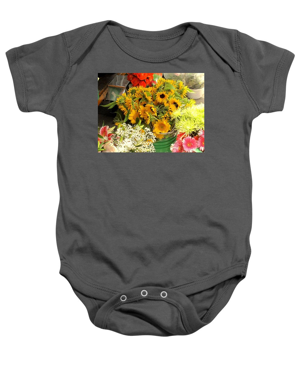 Flowers Baby Onesie featuring the photograph Flowers For Sale by Ian MacDonald