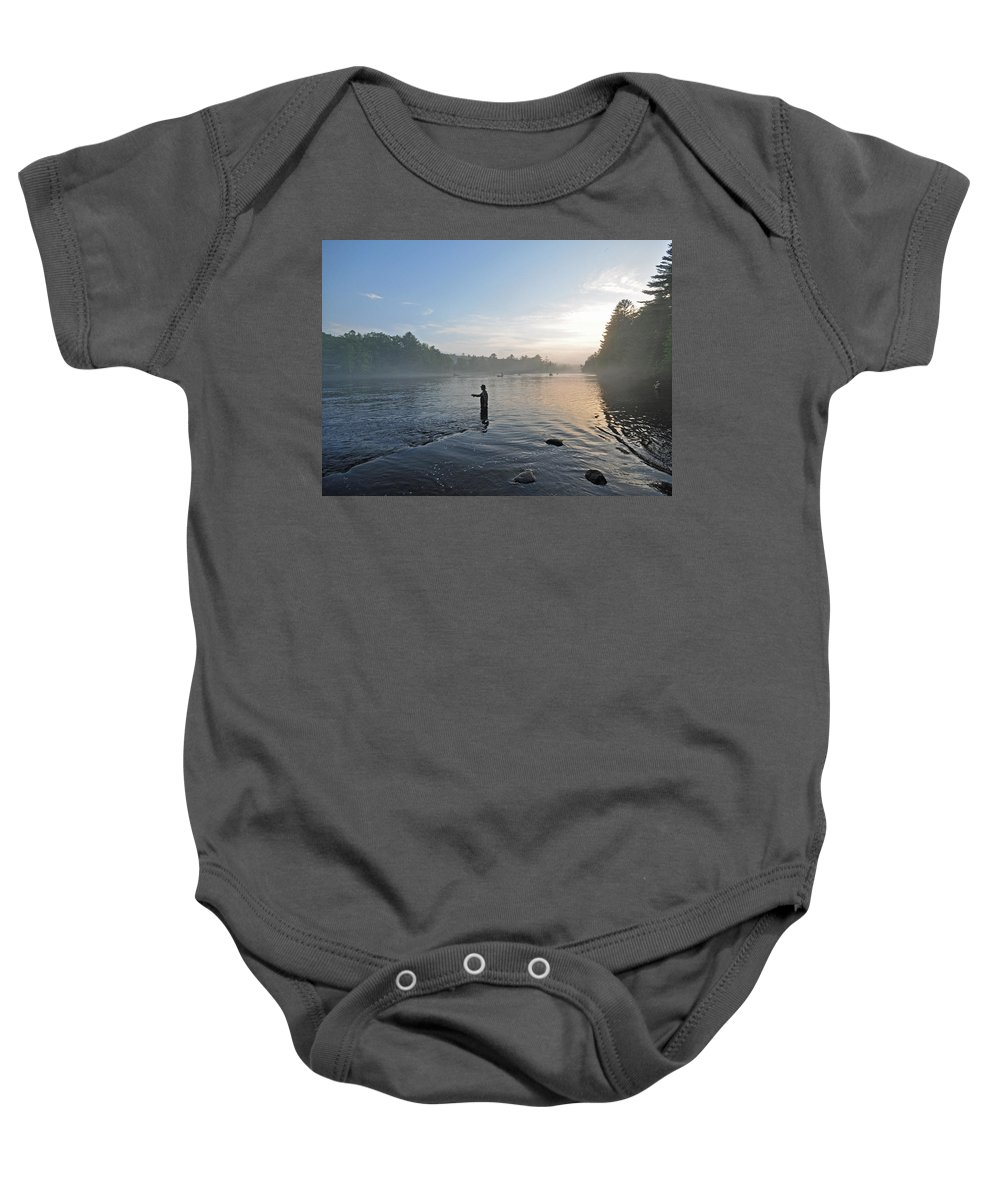 Fly Fishing Baby Onesie featuring the photograph Fly Fishing 2 by Glenn Gordon