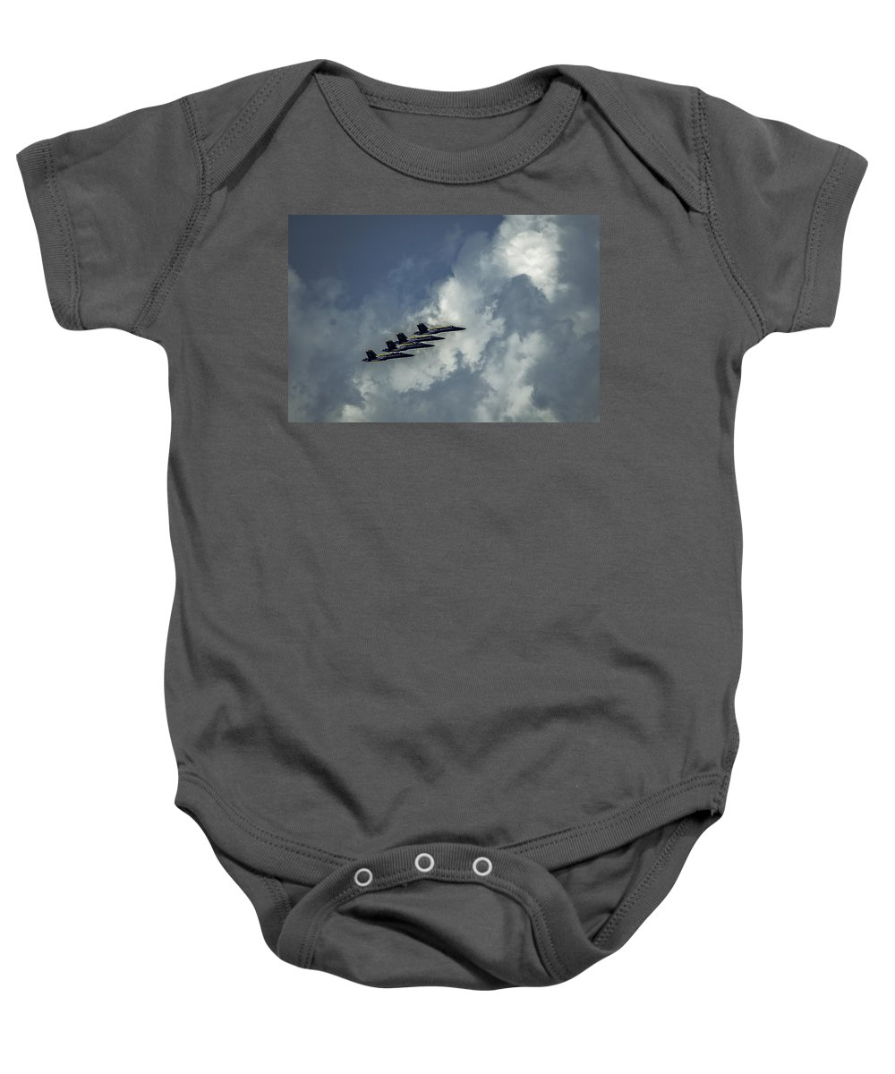 Flight Baby Onesie featuring the photograph Flying High by Lucinda M Wickham
