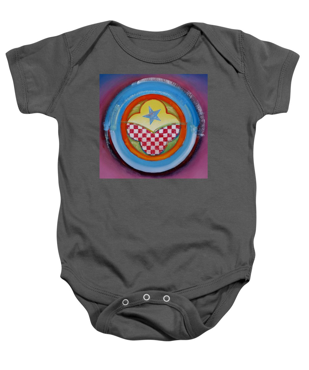 Logo Baby Onesie featuring the painting Flying Star by Charles Stuart