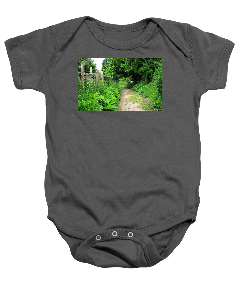 Path Baby Onesie featuring the photograph Follow by Ian MacDonald