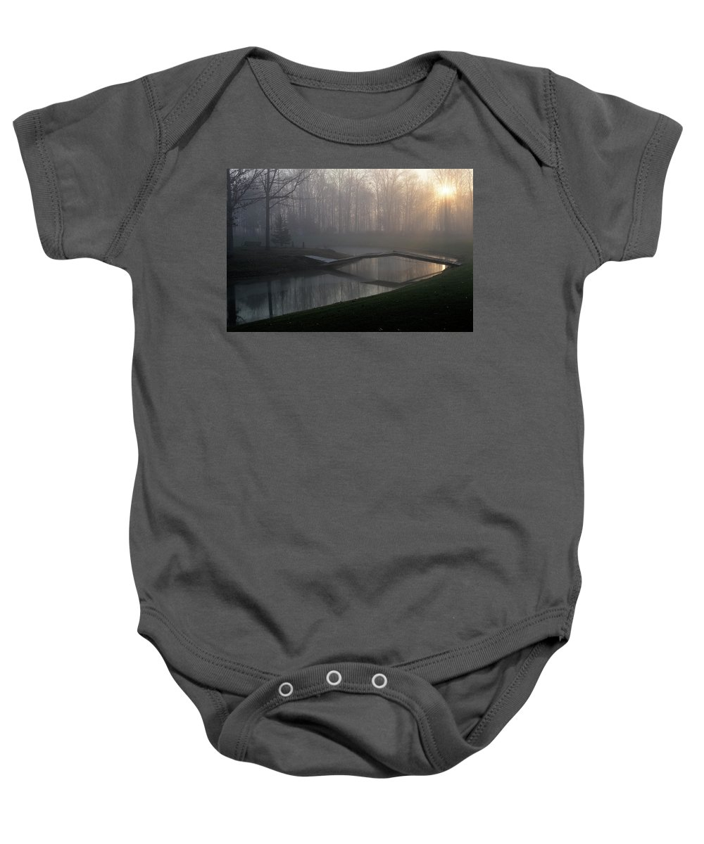 Bridge Baby Onesie featuring the photograph Footbridge by David Arment