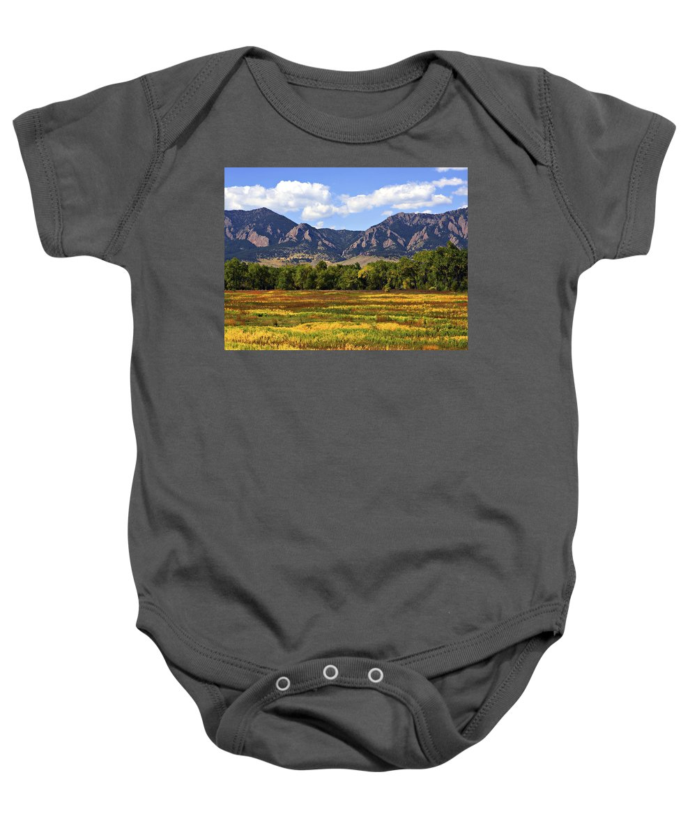 Fall Baby Onesie featuring the photograph Foothills Of Colorado by Marilyn Hunt