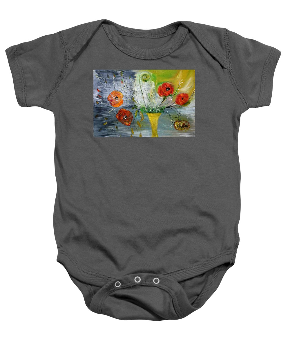 Floral Baby Onesie featuring the photograph For Mom by Evelina Popilian