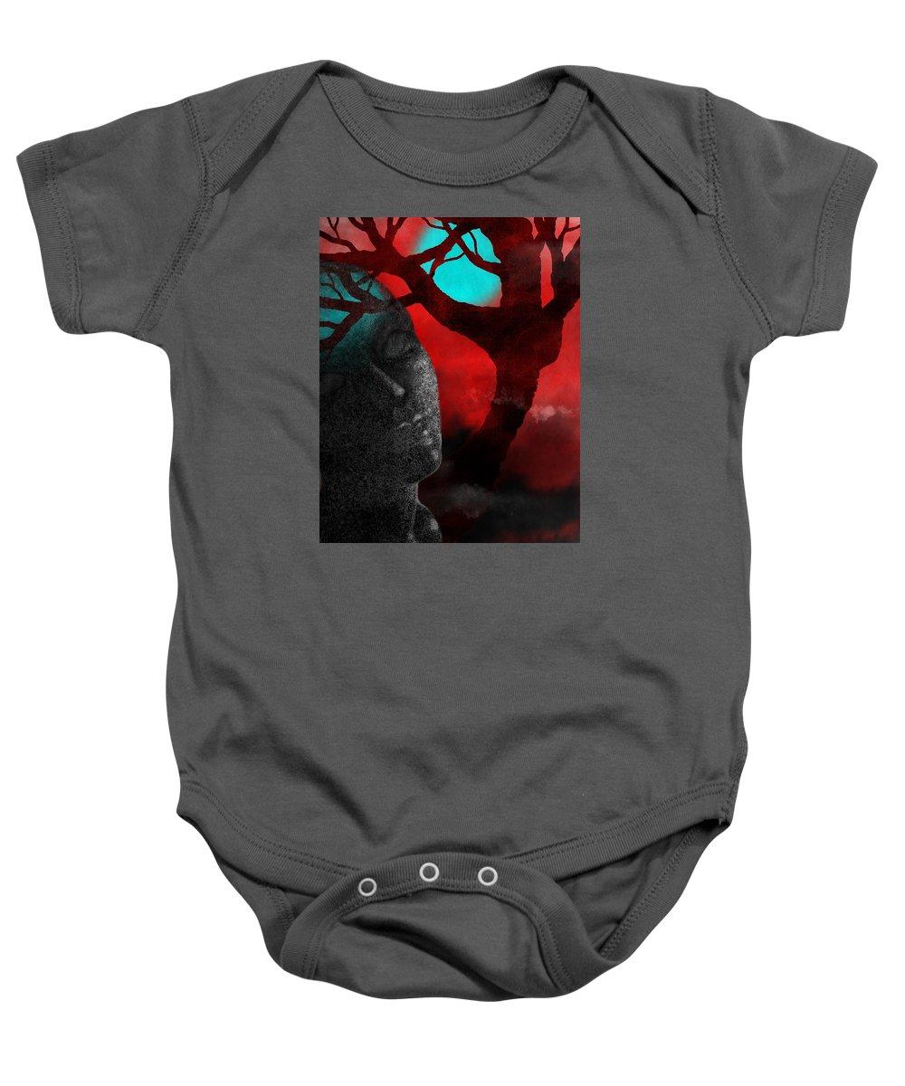 Tree Baby Onesie featuring the digital art Forest Dream by Sherri Leeder