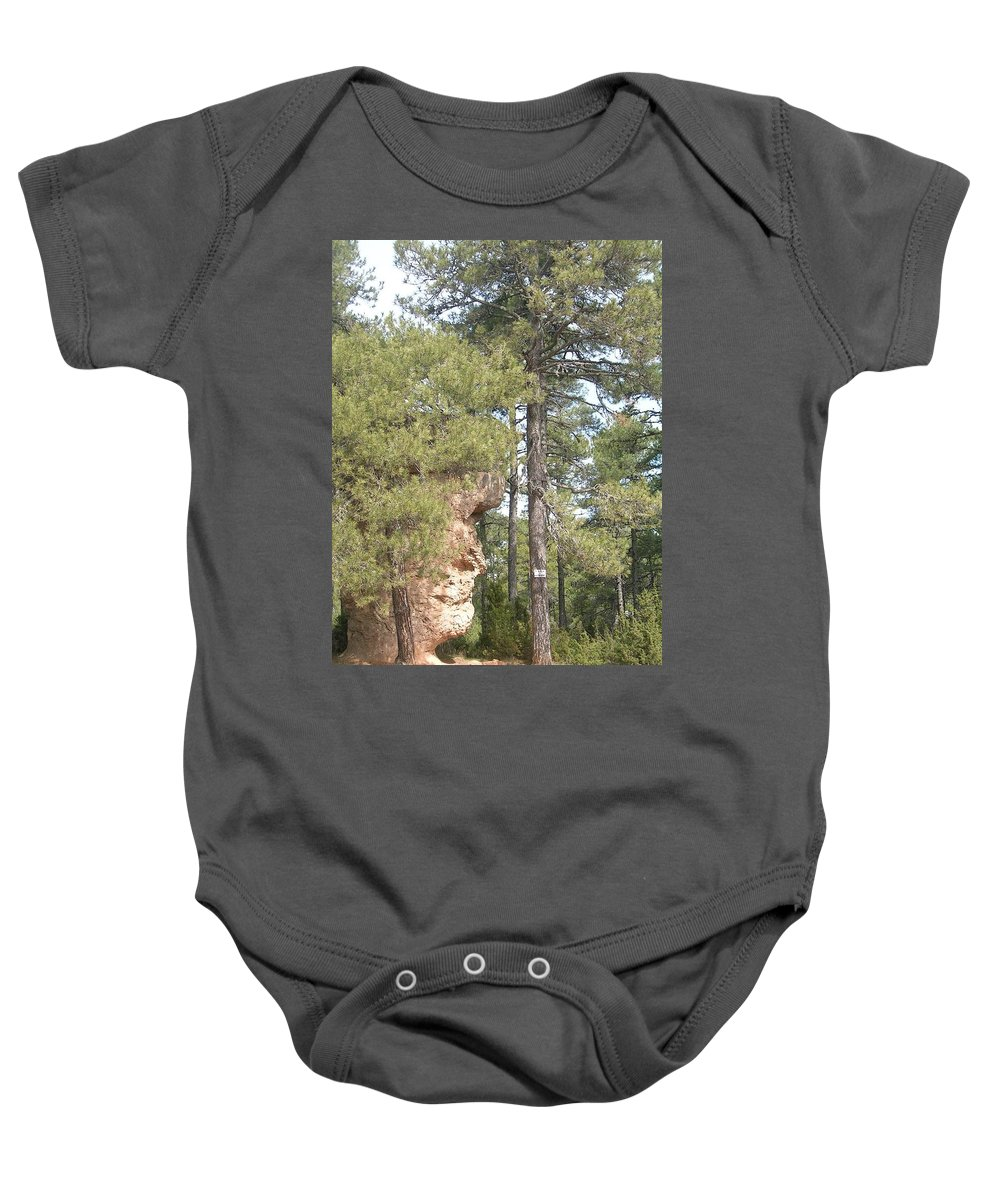 Landscape Baby Onesie featuring the photograph Forest Face by Valerie Ornstein