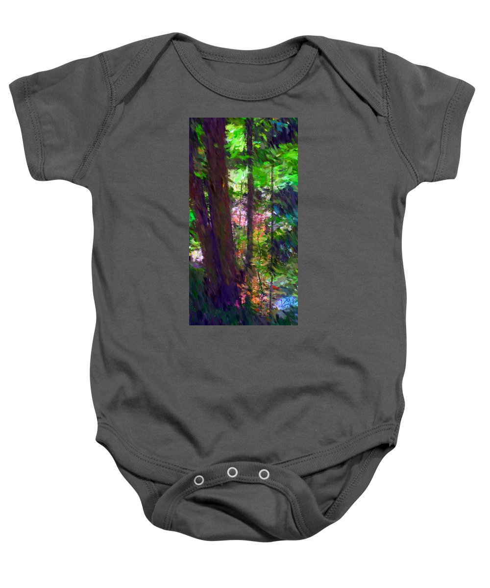 Digital Photography Baby Onesie featuring the digital art Forest For The Trees by David Lane