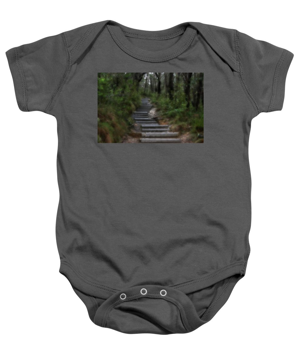Forest Baby Onesie featuring the photograph Forest Pathway by Douglas Barnard