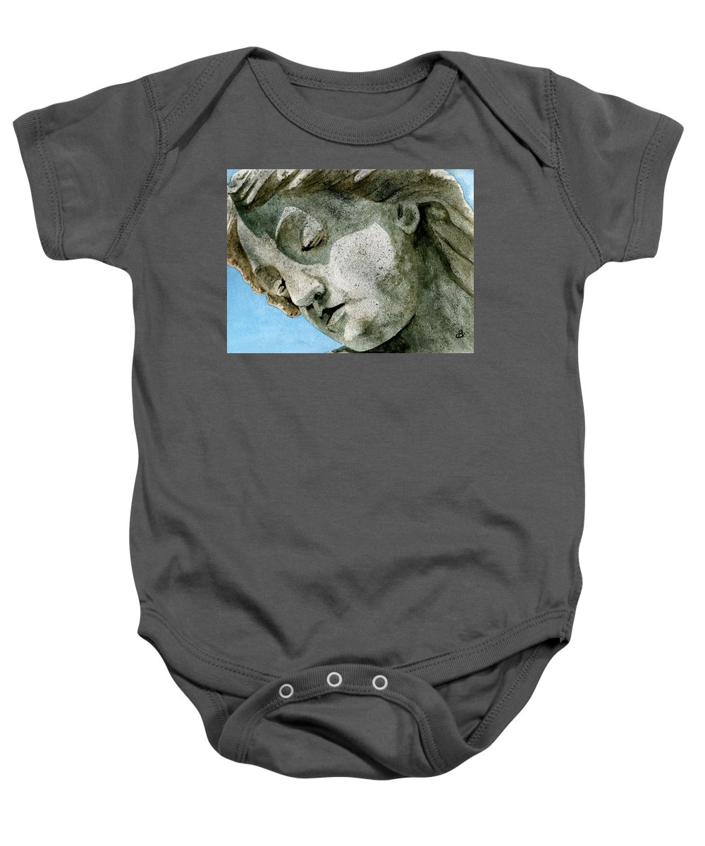 Woman Baby Onesie featuring the painting Forever Yours by Brenda Owen