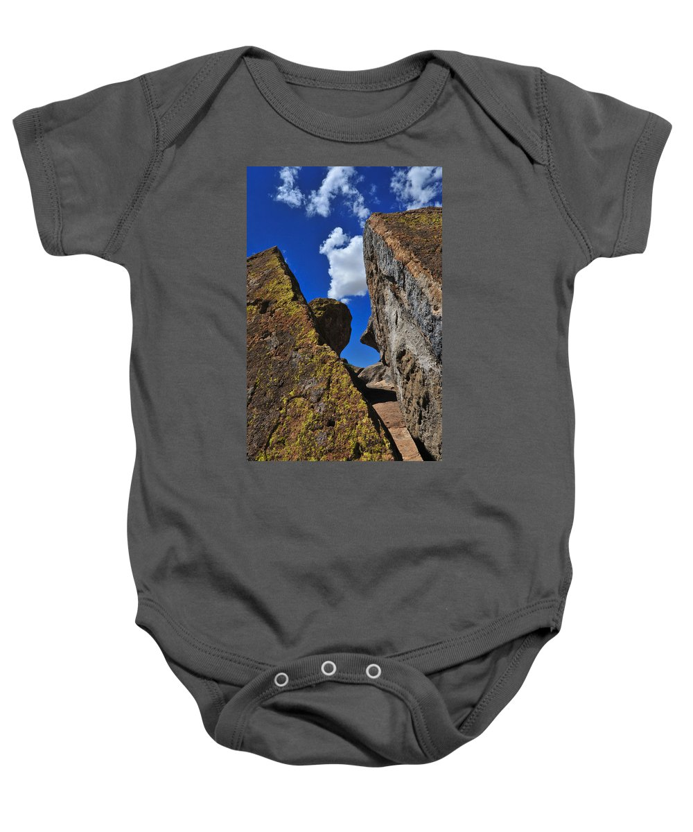 Forget Your Perfect Offering Baby Onesie featuring the photograph Forget Your Perfect Offering by Skip Hunt