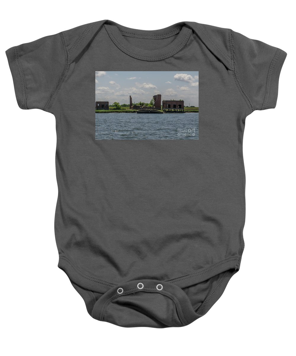 Coal Tipple Baby Onesie featuring the photograph Forgotten Industry by Dale Powell