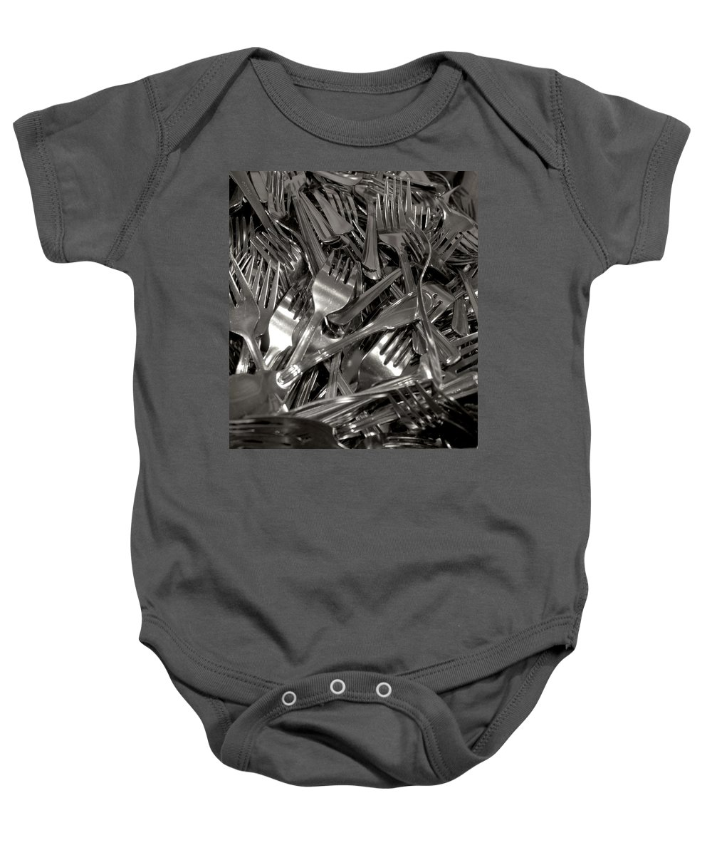 Forks Baby Onesie featuring the photograph Forks by Henri Irizarri