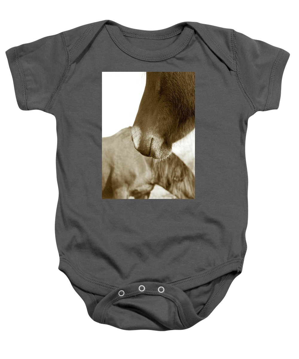Horse Baby Onesie featuring the photograph Form Of A Horse by Toni Hopper