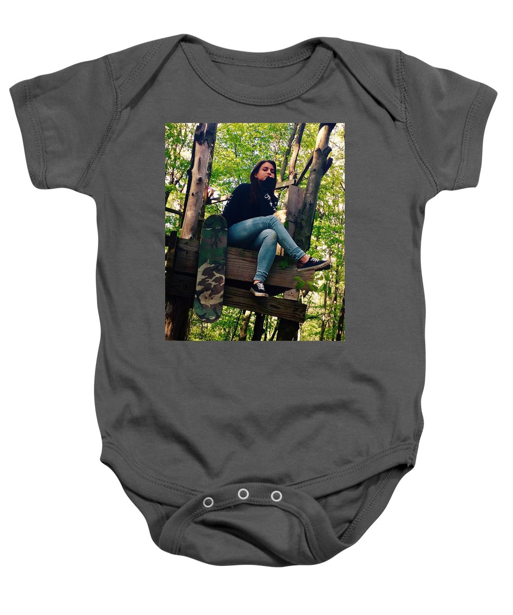Outside Baby Onesie featuring the photograph Fort by Christin Rivas