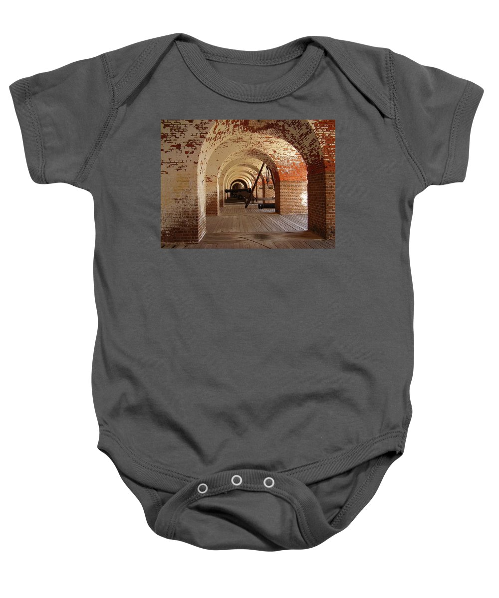 Fort Pulaski Baby Onesie featuring the photograph Fort Pulaski II by Flavia Westerwelle