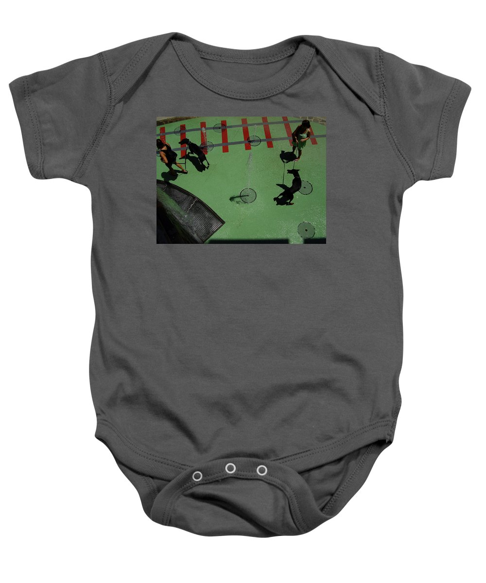 Fountain Baby Onesie featuring the photograph Fountain by Flavia Westerwelle
