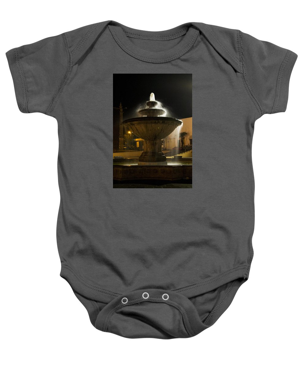 Fountain Baby Onesie featuring the photograph Fountain by Karl Magsig