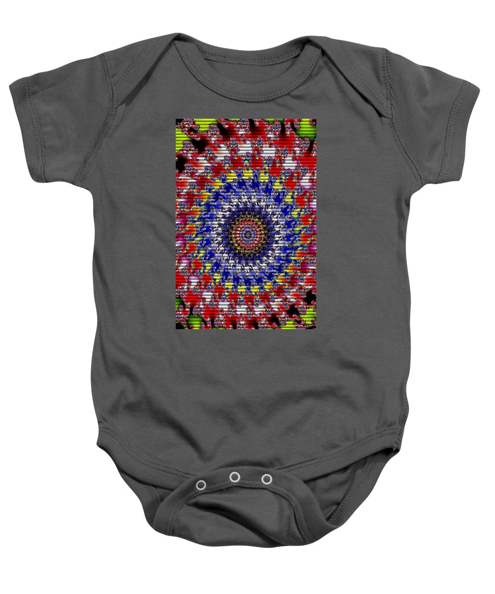 Announcement Baby Onesie featuring the photograph Fractal Outburst Catus 1 No. 11 - Redley Park V B by Gert J Rheeders