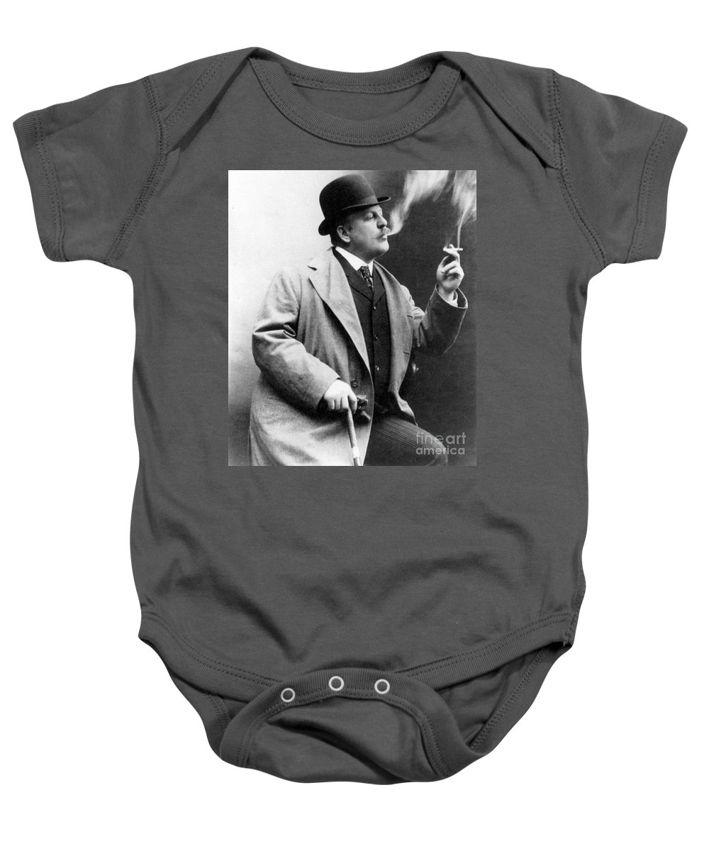 1909 Baby Onesie featuring the photograph Frederic Remington by Granger