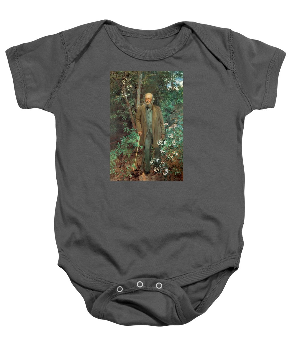 John Singer Sargent Baby Onesie featuring the photograph Fredrick Law Olmsted 1895 by John Singer Sargent