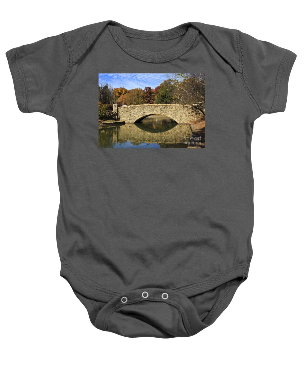 Freedom Baby Onesie featuring the photograph Freedom Park Bridge by Jill Lang