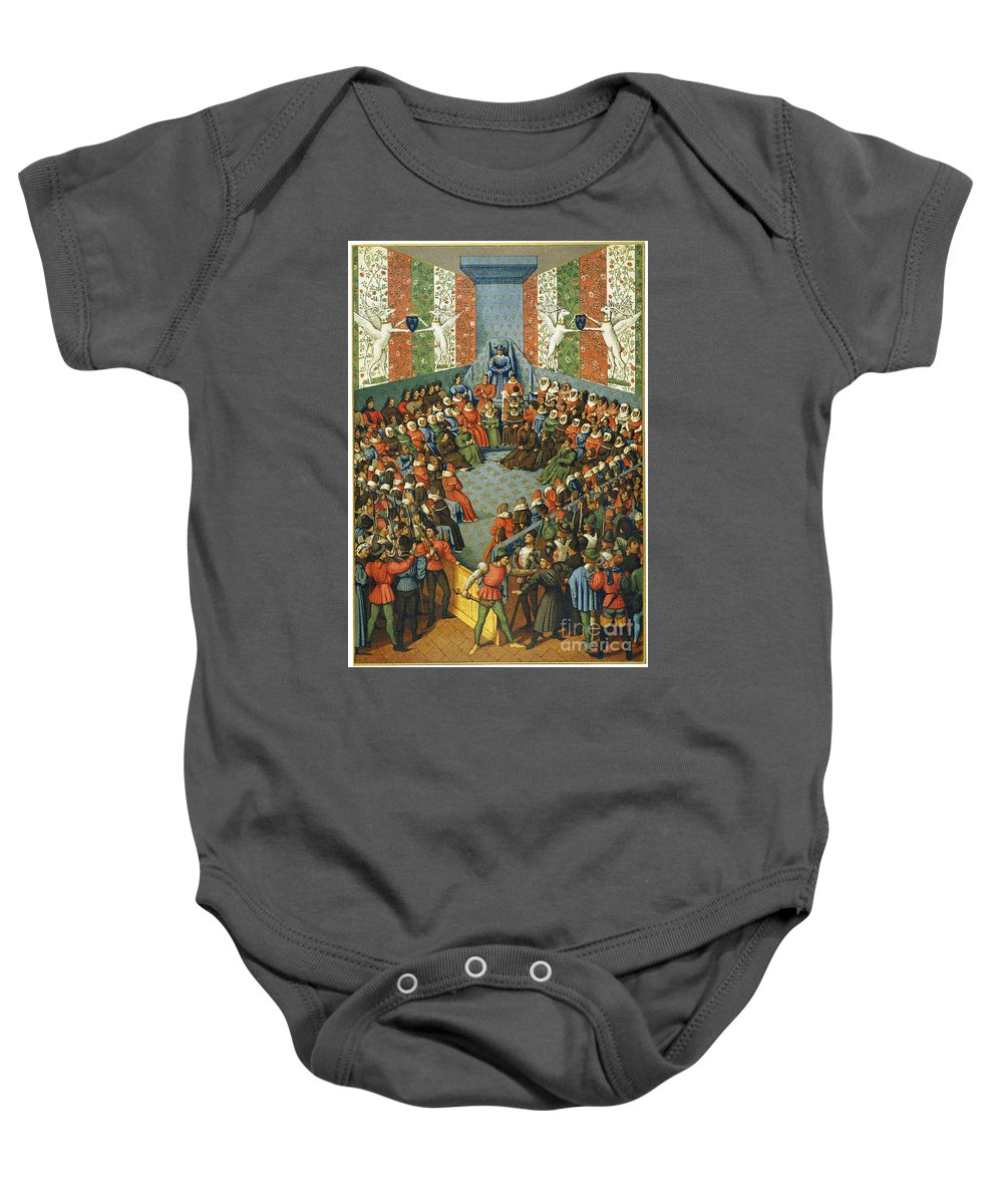1458 Baby Onesie featuring the photograph French Court, 1458 by Granger