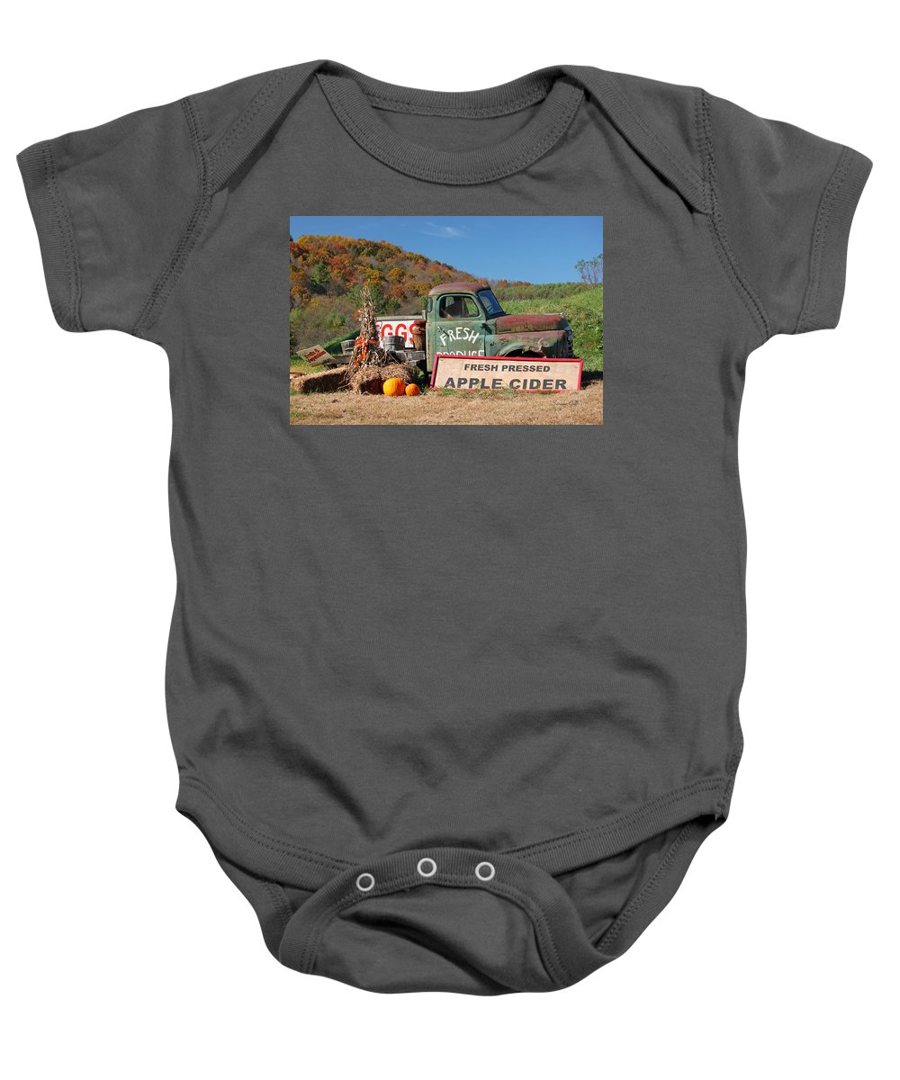 Fall Baby Onesie featuring the photograph Fresh by Suzanne Gaff