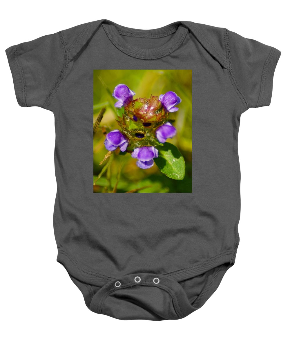Flowers Baby Onesie featuring the photograph Friend Of The Flower King by Ben Upham III