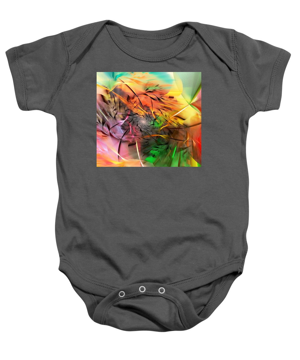Digital Painting Baby Onesie featuring the digital art From Both Sides Now by David Lane