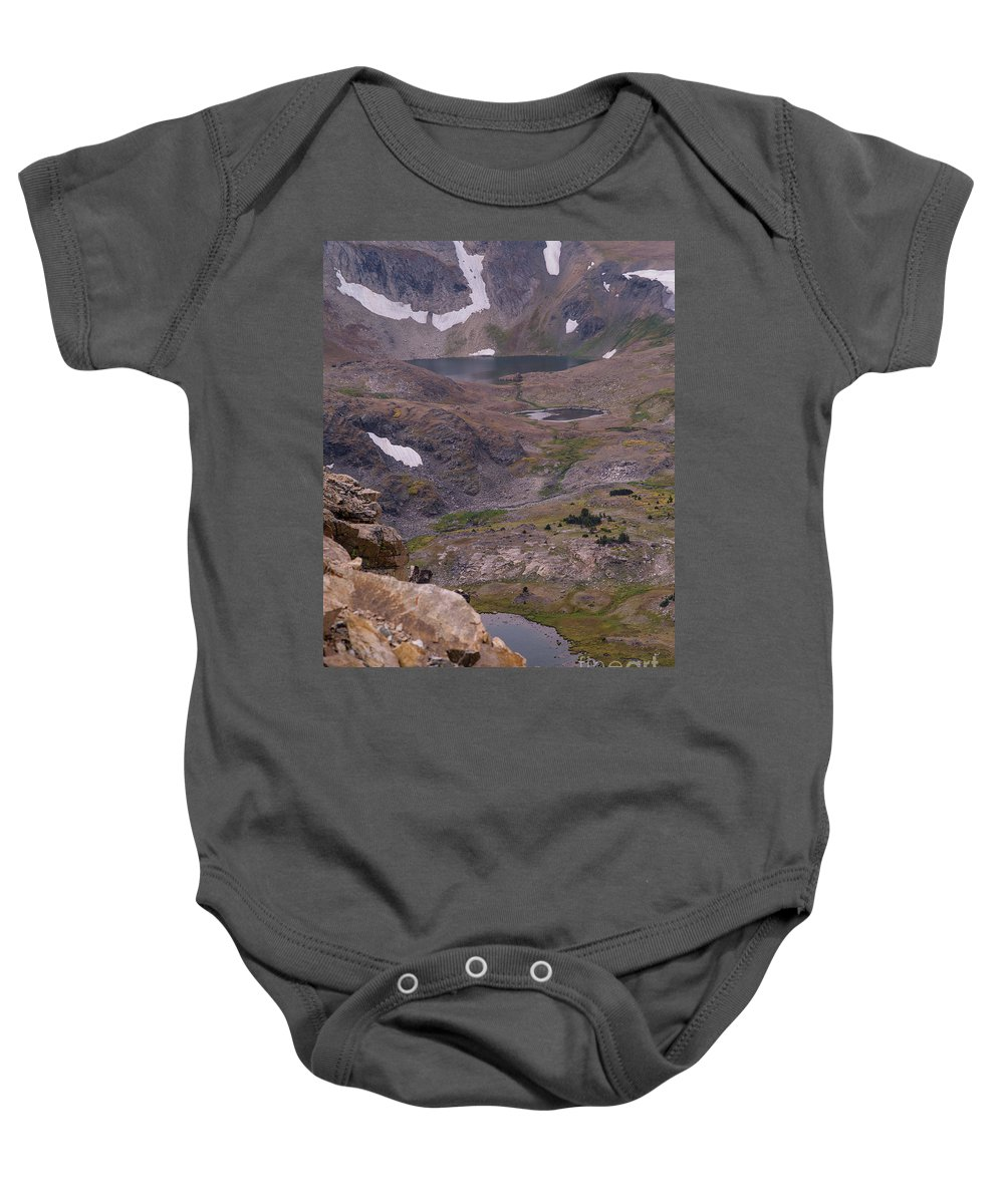 Montana Baby Onesie featuring the photograph Frosty Lake 3 by Tracy Knauer