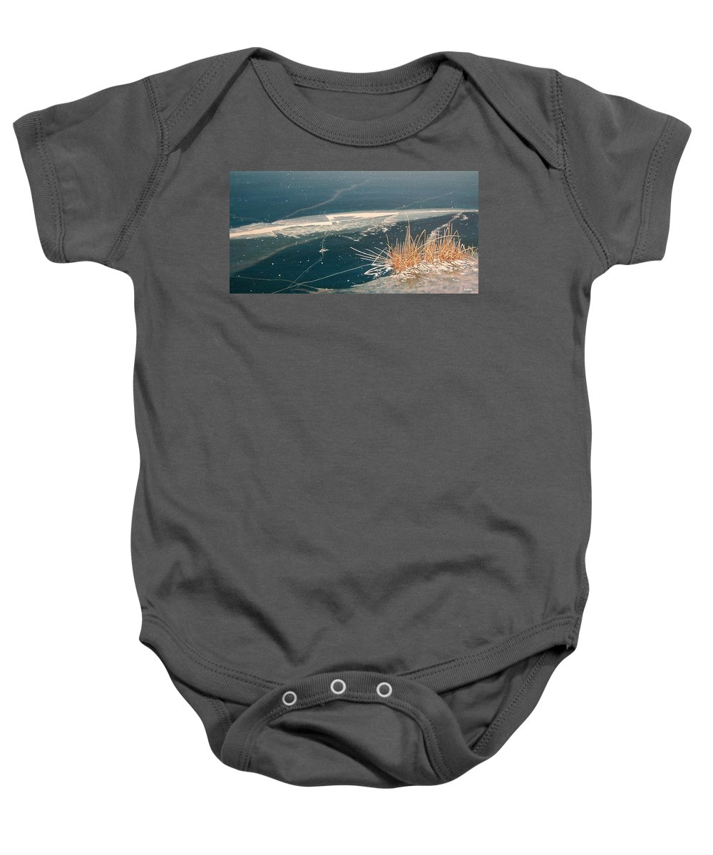 Llandscapes Baby Onesie featuring the painting Frozen In Time by Kenneth M Kirsch