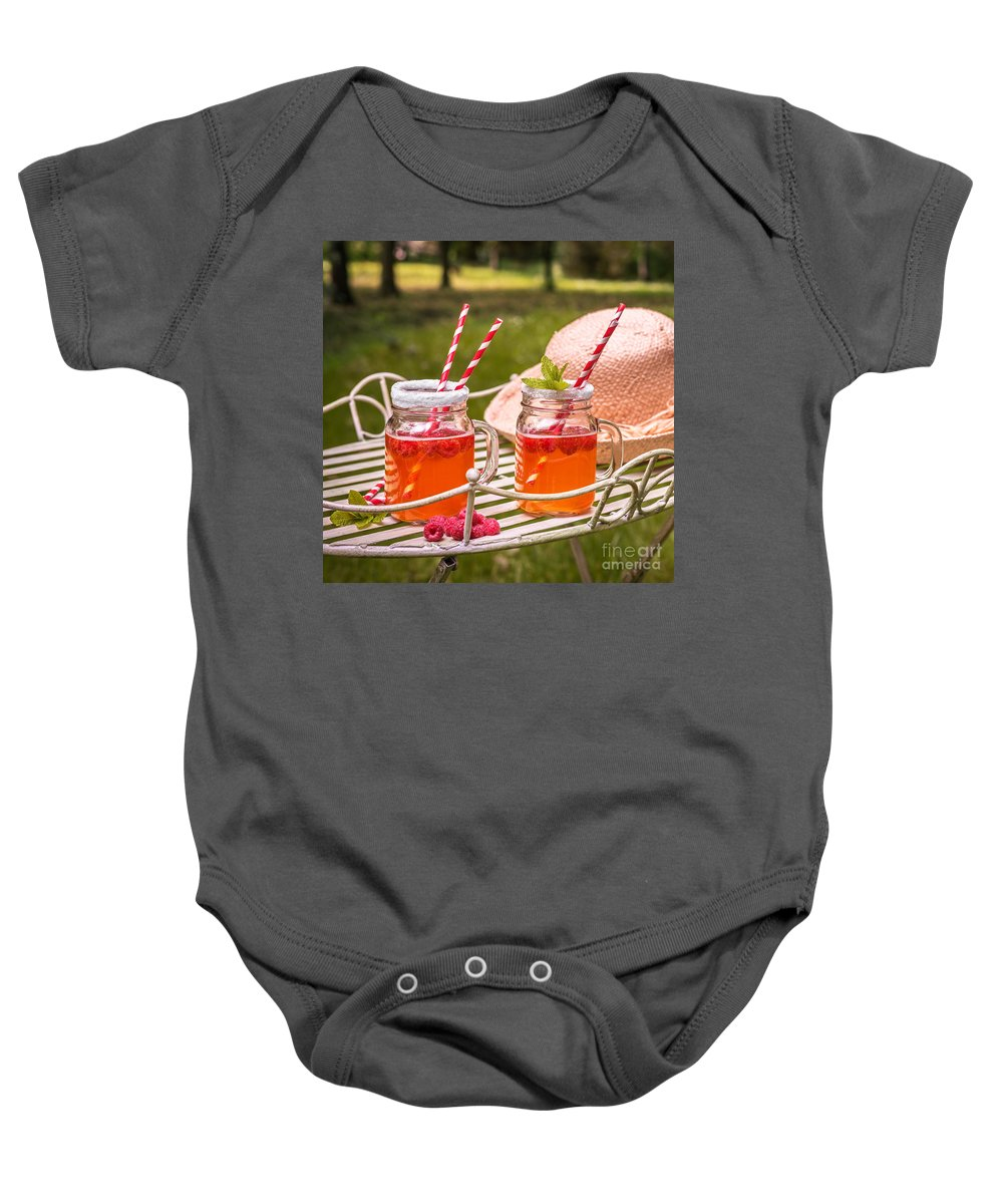 Drinks Baby Onesie featuring the photograph Fruit Drinks by Amanda Elwell