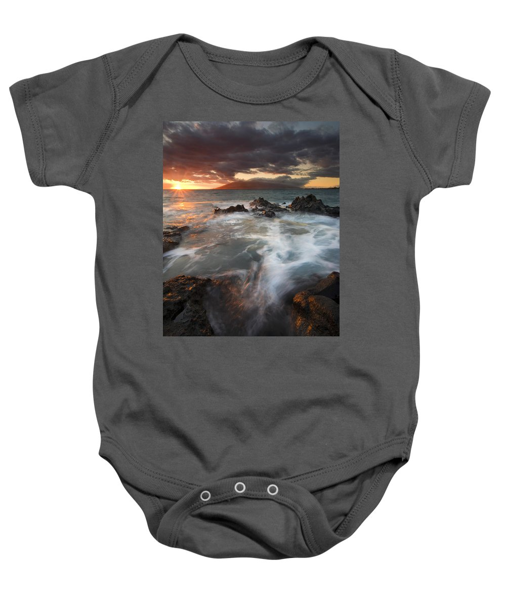 Cauldron Baby Onesie featuring the photograph Full To The Brim by Mike Dawson