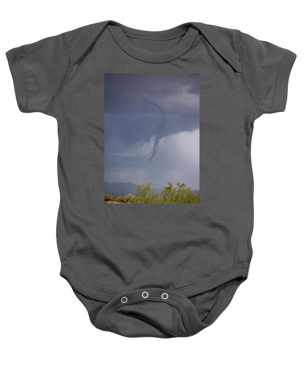 Arizona Baby Onesie featuring the photograph Funnel Surprise by Cathy Franklin
