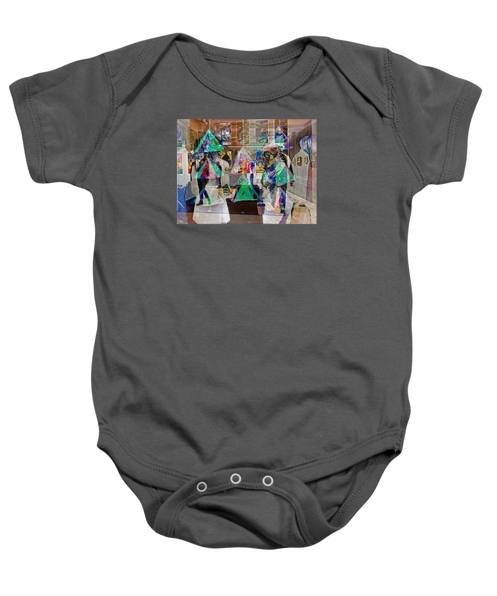 Bold Baby Onesie featuring the photograph Gallery Shuffle by David Thompson