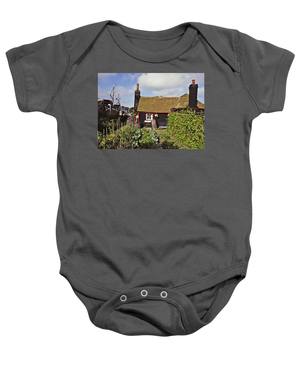 Seaside Baby Onesie featuring the photograph Garden By The Sea by Stephen Anderson