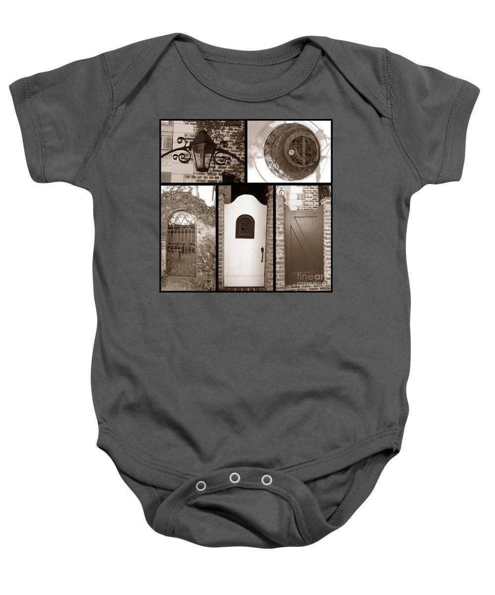 Gates Baby Onesie featuring the photograph Garden Gates by Donna Bentley