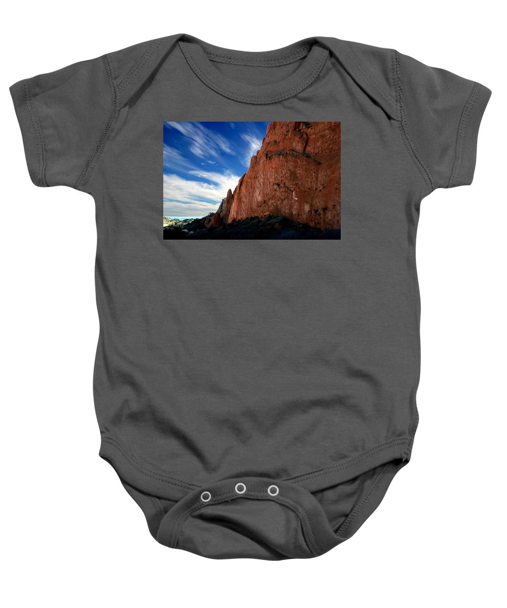 Garden Of The Gods Baby Onesie featuring the photograph Garden Of The Gods by Anthony Jones