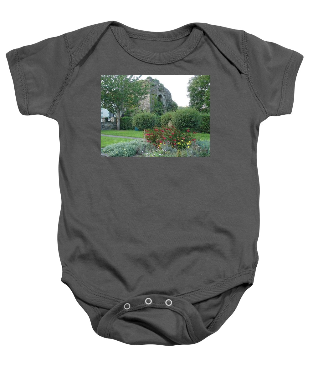 Inistioge Baby Onesie featuring the photograph Garden Path by Kelly Mezzapelle