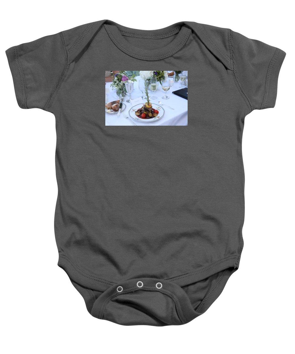 Garrett Baby Onesie featuring the photograph Garrett-353 by Stephanie Klein-Davis