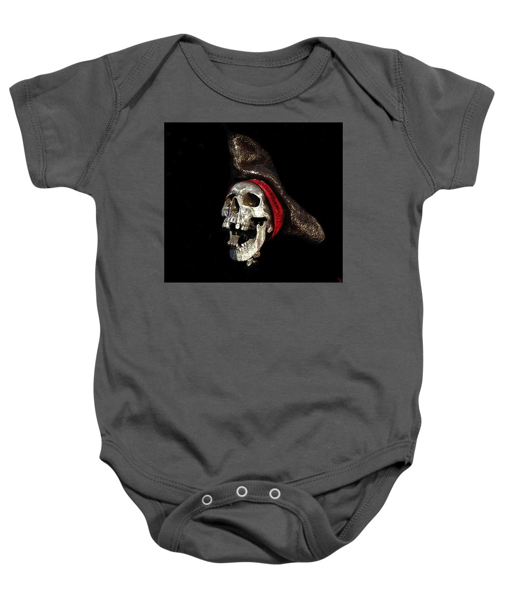 Art Baby Onesie featuring the painting Gasparilla 2012 by David Lee Thompson