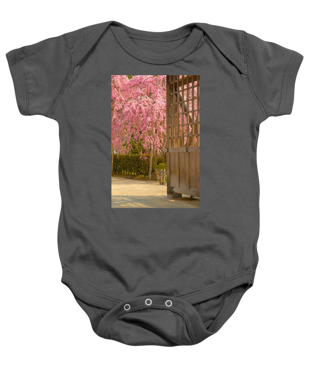 Japan Baby Onesie featuring the photograph Gate by Sebastian Musial