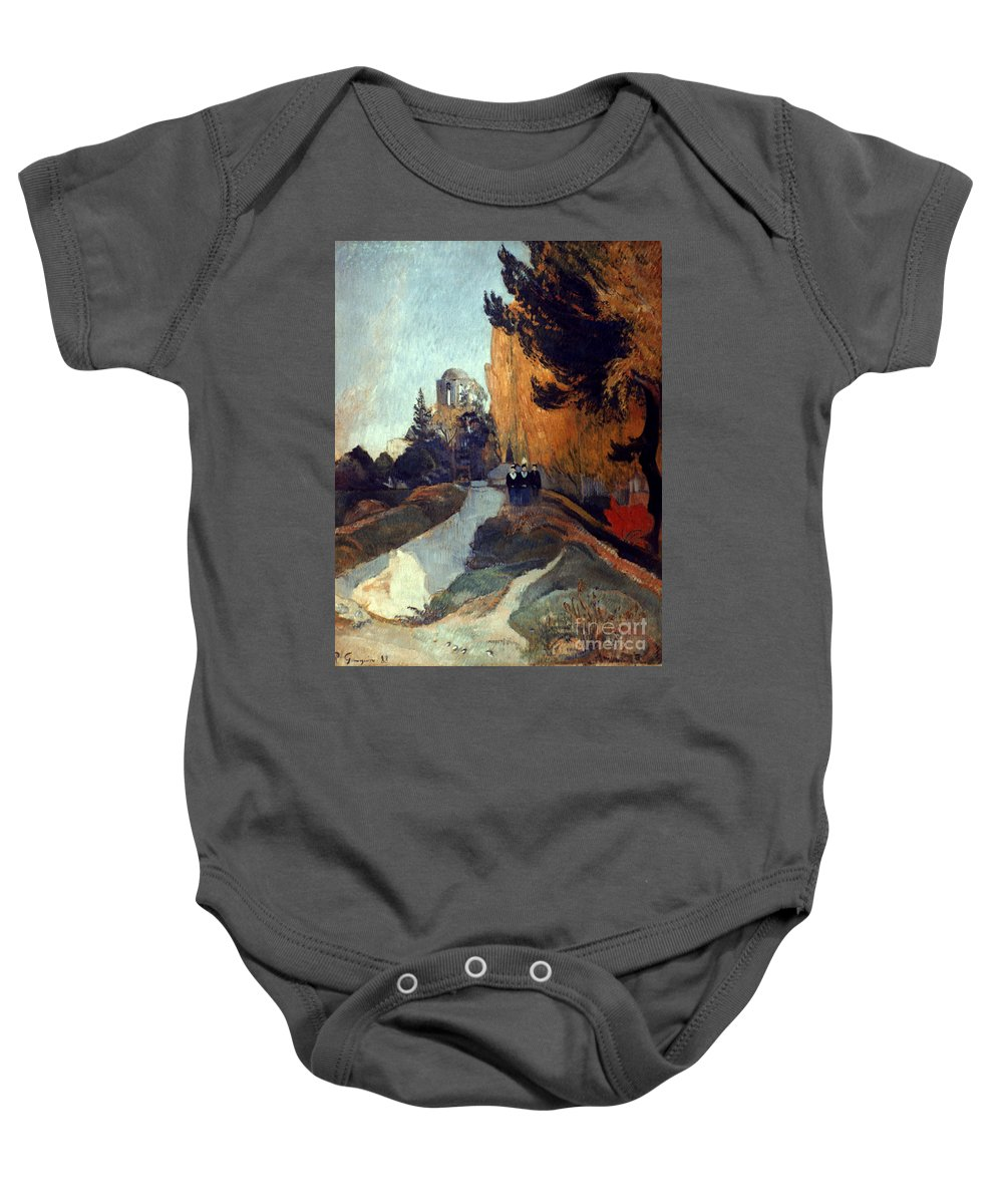 1888 Baby Onesie featuring the photograph Gauguin: Alyscamps, 1888 by Granger
