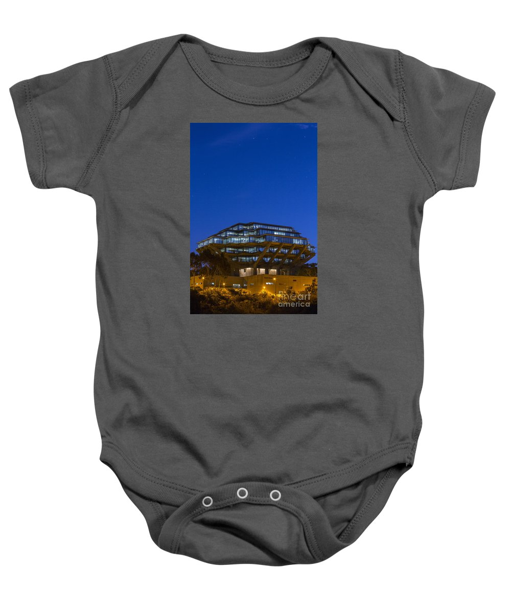 Photography Baby Onesie featuring the photograph Geisel Library by Daniel Knighton