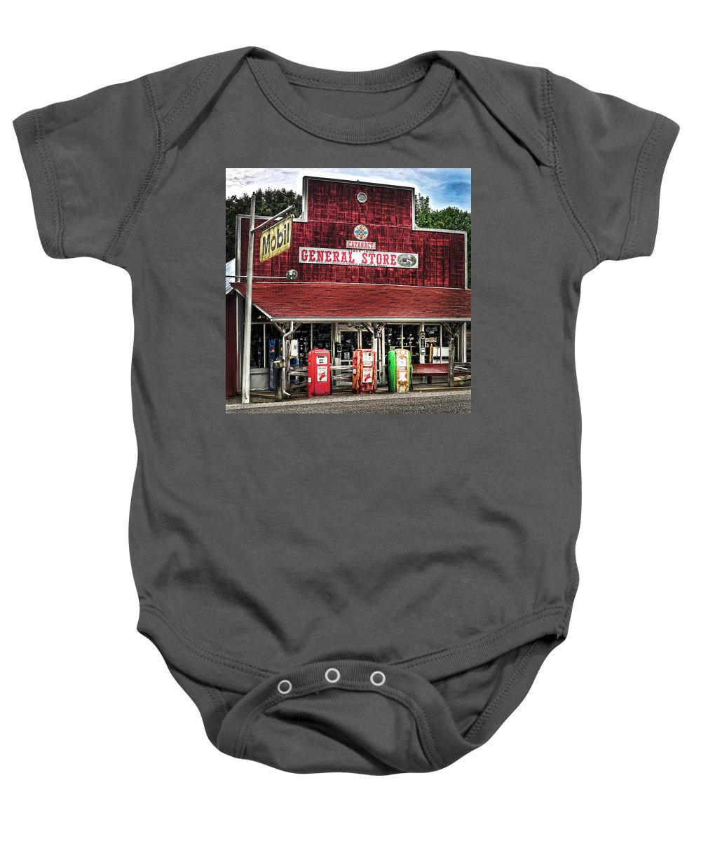 Built 1860 Baby Onesie featuring the photograph General Store Cataract In. by Randall Branham