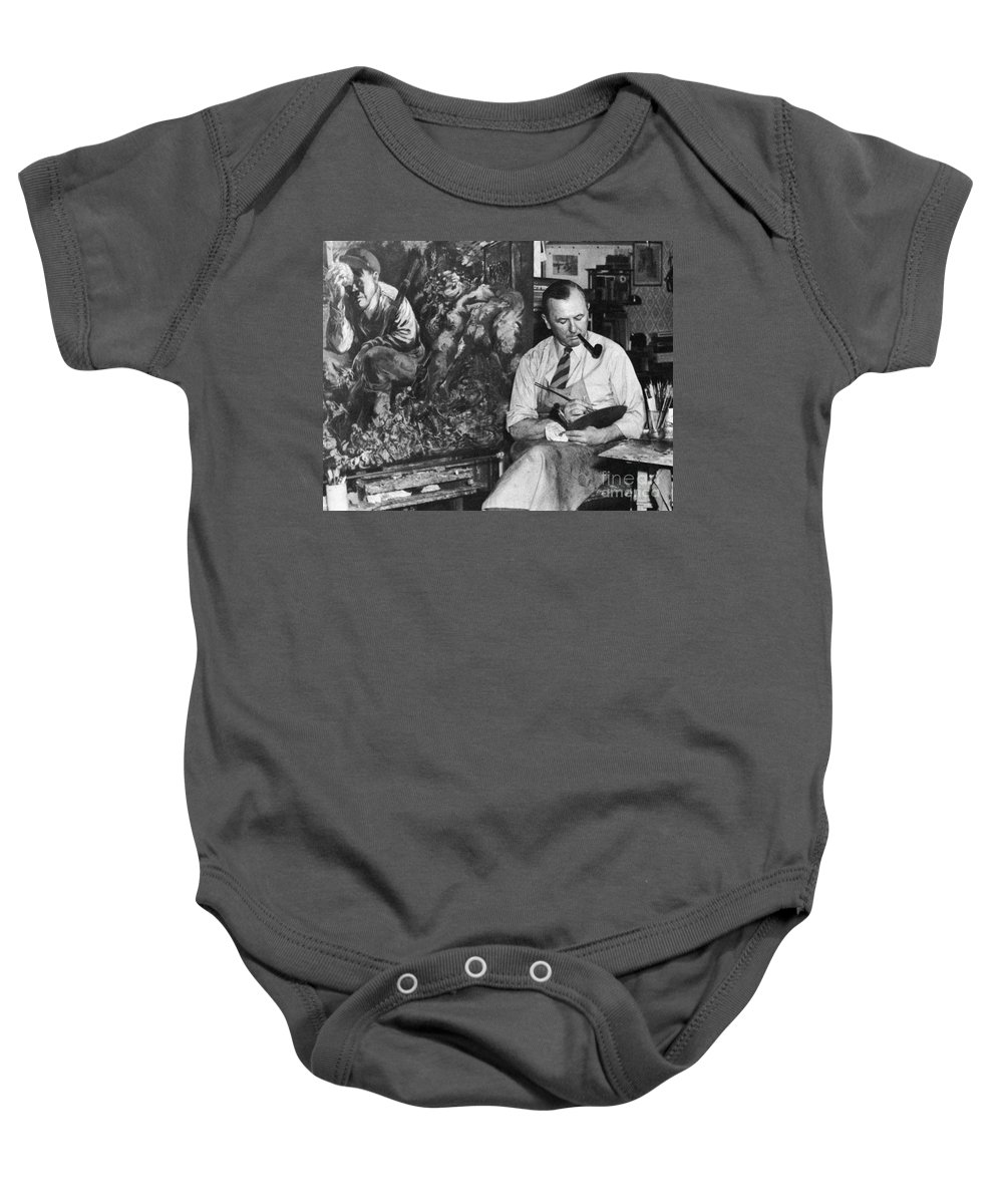 1944 Baby Onesie featuring the photograph George Grosz (1893-1959) by Granger