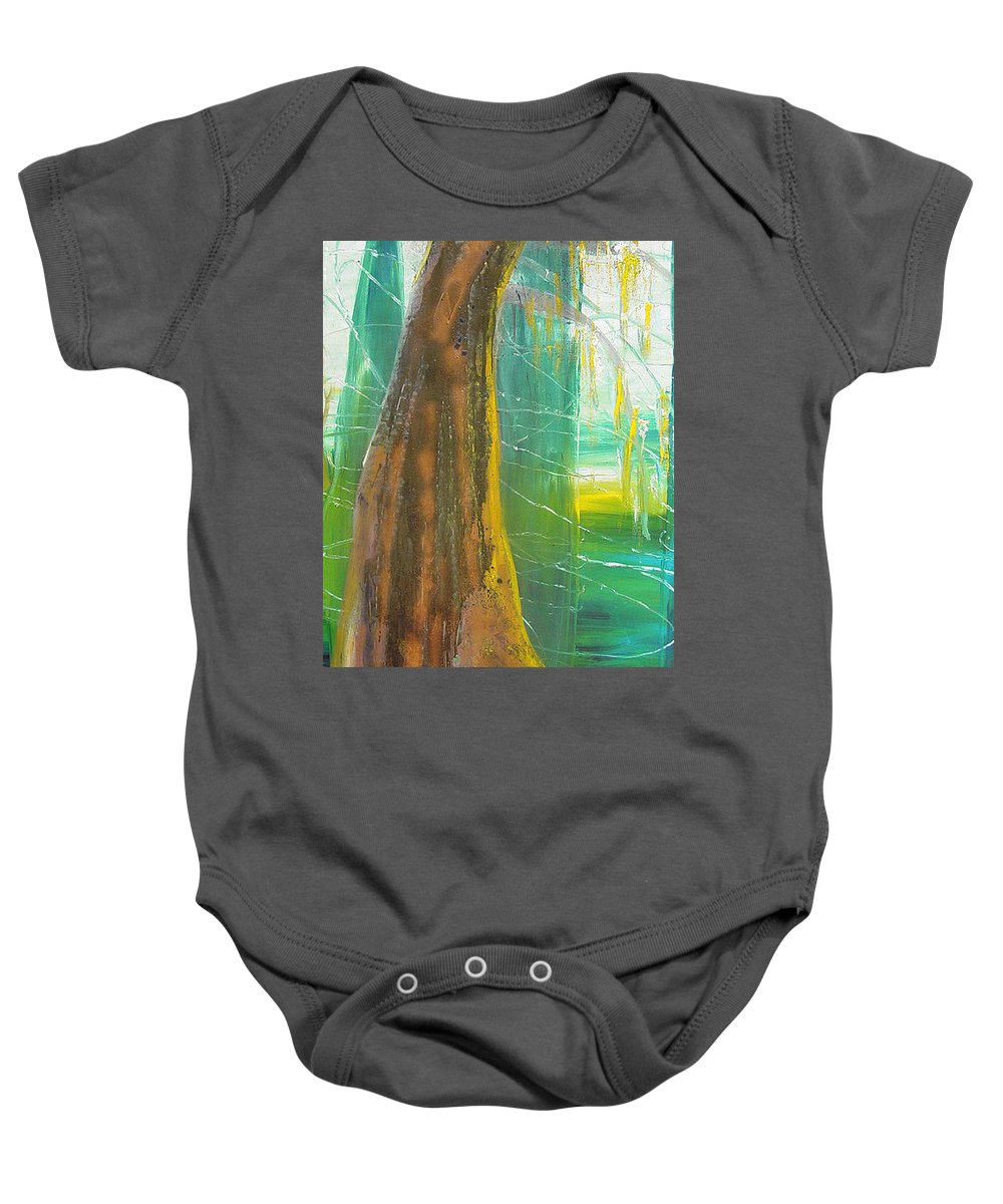 Landscape Baby Onesie featuring the painting Georgia Morning by Peggy Blood
