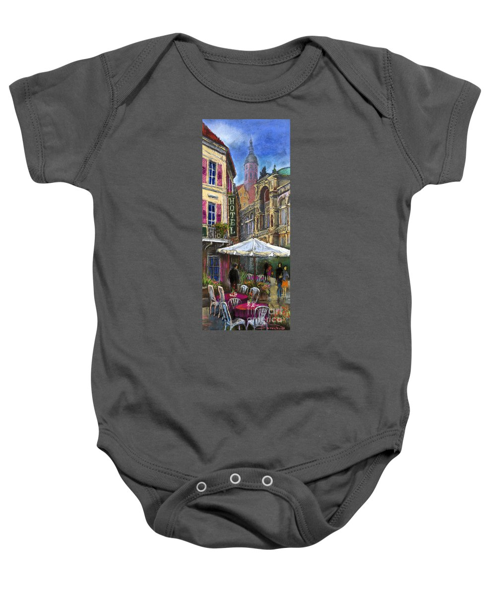 Pastel Baby Onesie featuring the painting Germany Baden-baden 07 by Yuriy Shevchuk
